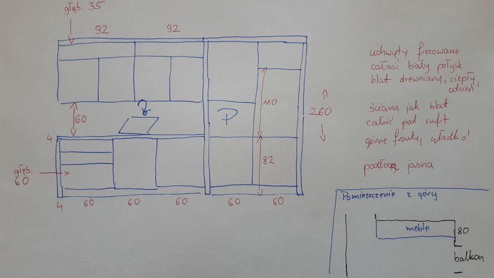 szkic na podstawie którego mamy przygotować projekt