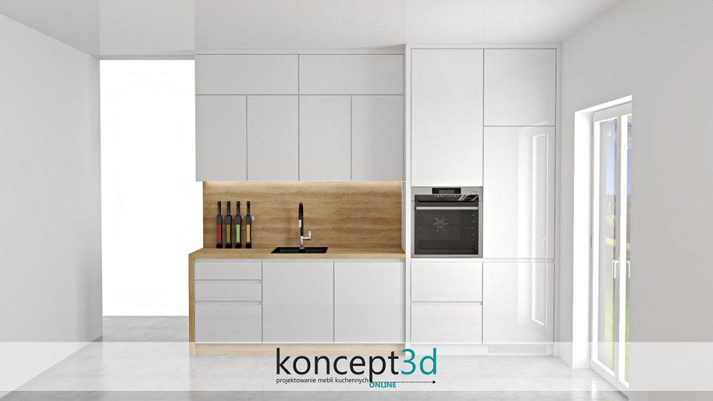 projekt kuchni przygotowany z przedstawionego szkicu