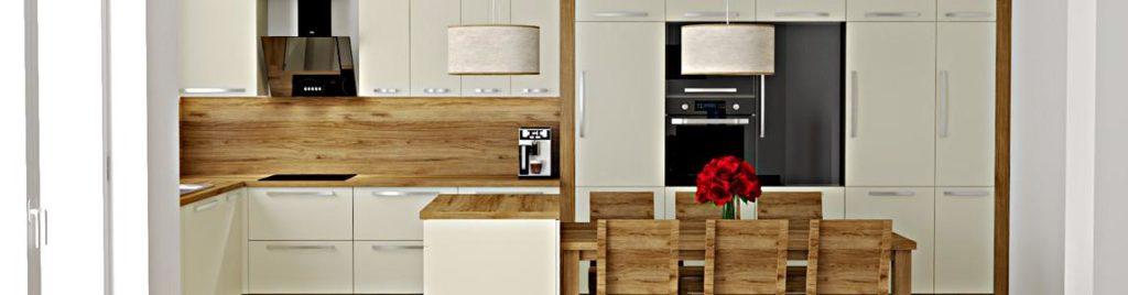 Kremowa kuchnia z drewnem | koncept3d baner