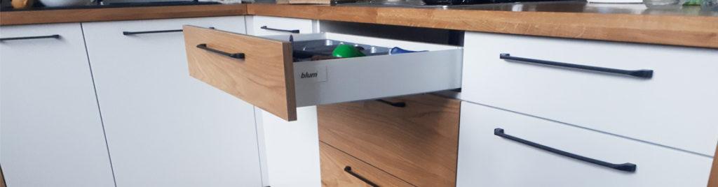 Systemy prowadnic do szuflad kuchennych