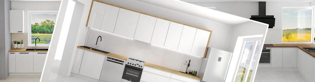 Biała kuchnia koncept3d