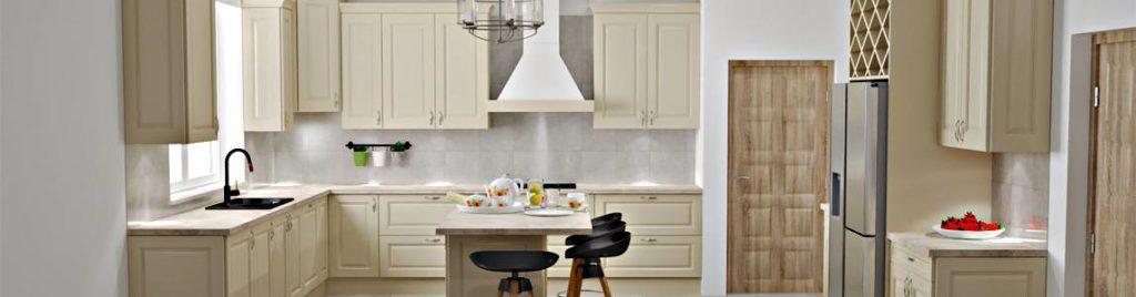 Klasyczna kuchnia ecru | koncept3d