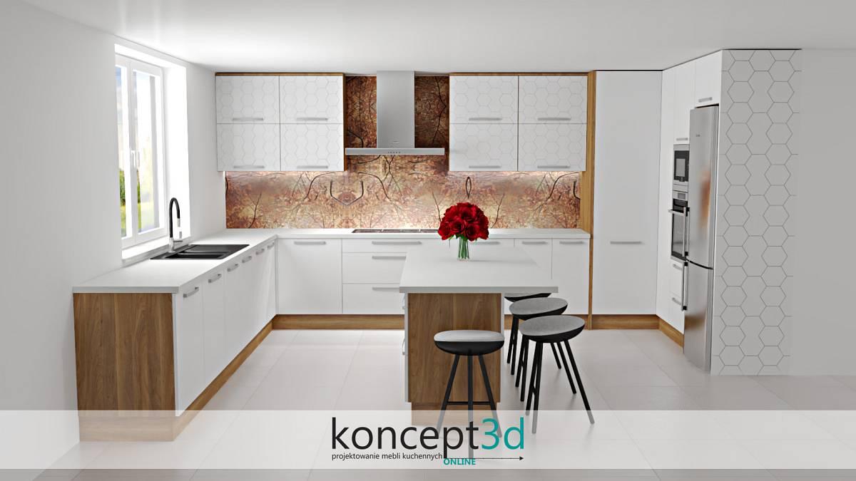 Duże nowoczesne meble kuchenne, których serce stanowi wyspa | koncept3d