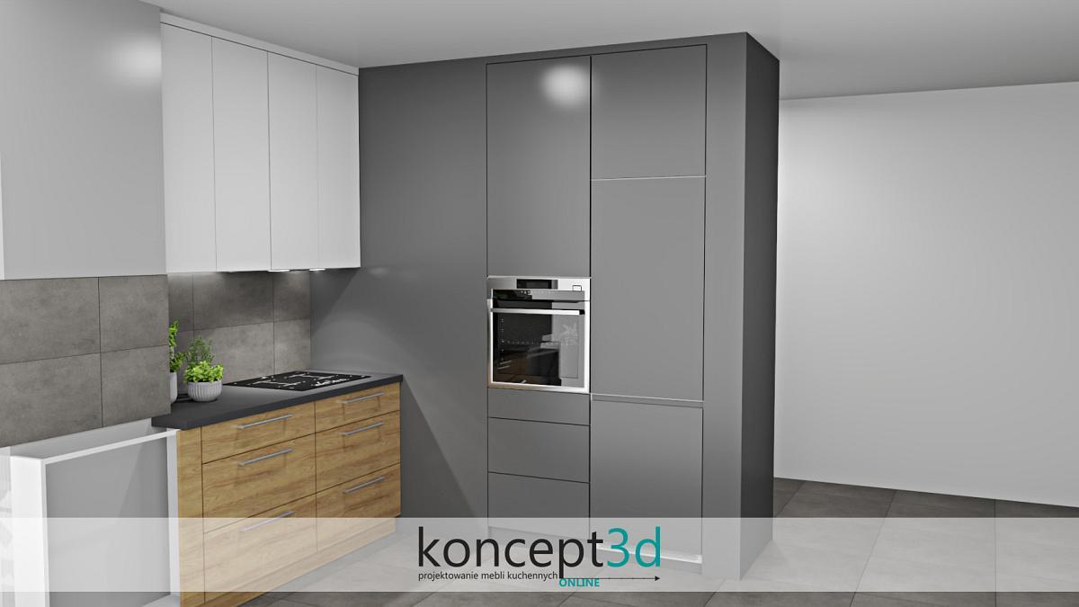 Wizualizacja wysokiej zabudowy w kuchni | koncept3d