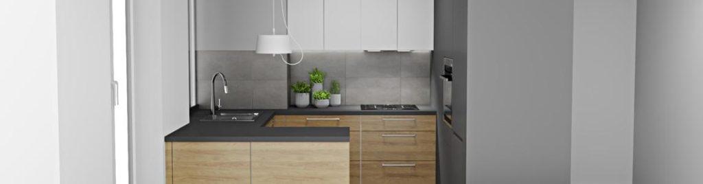 Mała nowoczesna kuchnia | koncept3d