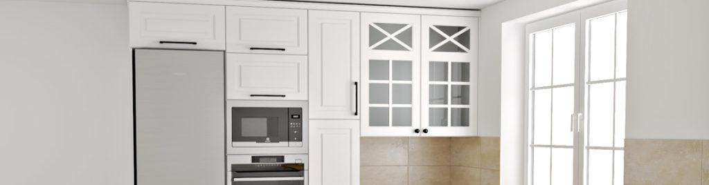 Biała kuchnia w stylu skandynawskim | koncept3d