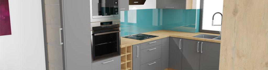 Kuchnia popielata z drewnem | koncept3d