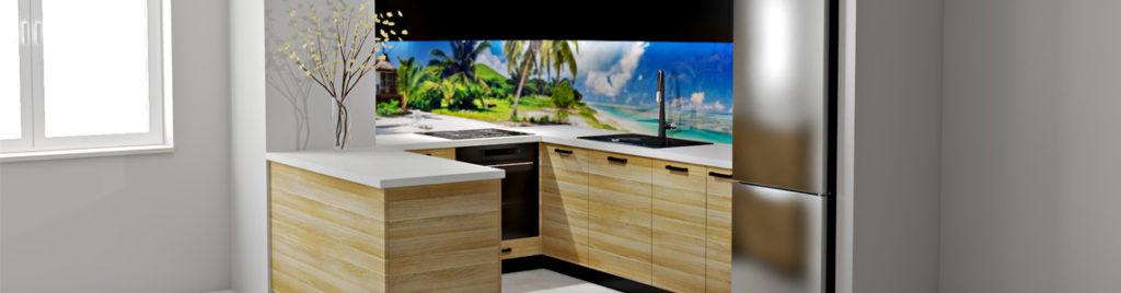 Kuchnia z grafiką na szkle | koncept3d