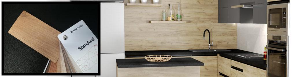 Dąb Craft Złoty K003 w kuchni | wzornik koncept3d