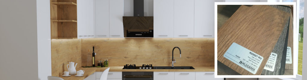 Dąb Lancelot w kuchni | projektowanie kuchni koncept3d