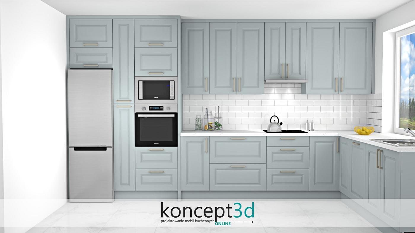 Kuchnia w kształcie litery L - dużo blatu roboczego to podstawa w funkcjonalnej kuchni. Poza tym odpowiednie oświetlenie!