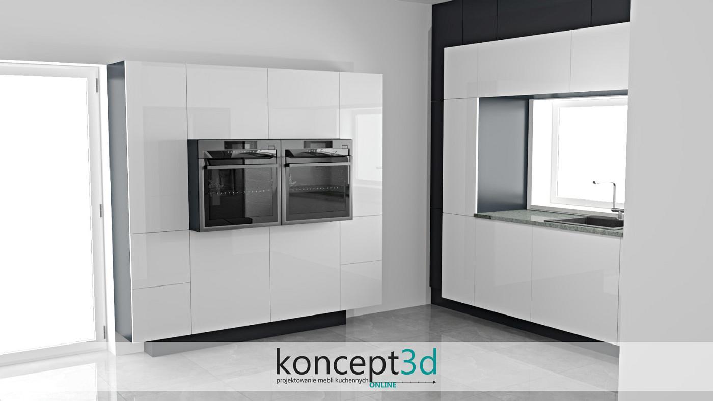 Aranżacja nowoczesnej kuchni z efektem 3D w słupakch