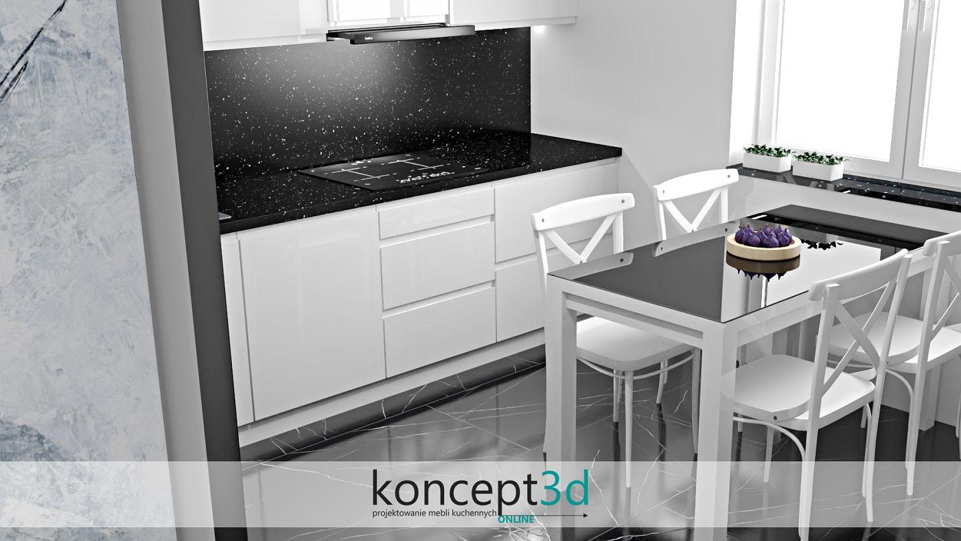 Czarny sprzęt AGD doskonale łączy się z bielą i innymi ciemnymi dodatkami | projekty kuchni