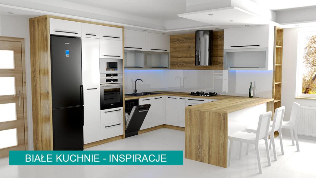 Białe kuchnia | koncept3d projekty kuchni