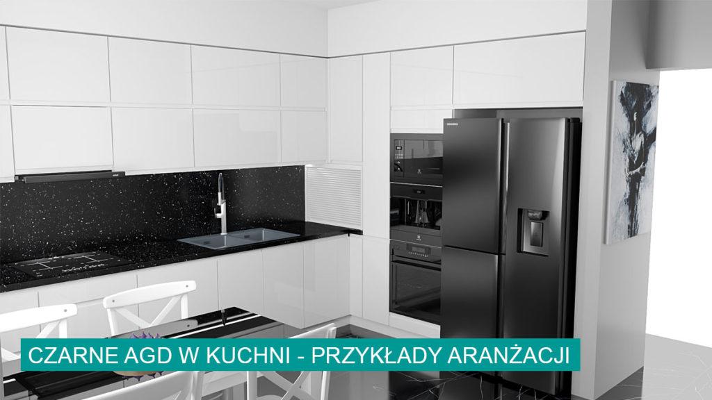 Czarne AGD w kuchni | koncept3d projekty kuchni