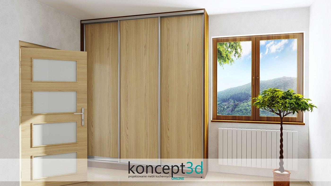 Troje drzwi wykonanych w całości z płyty laminowanej