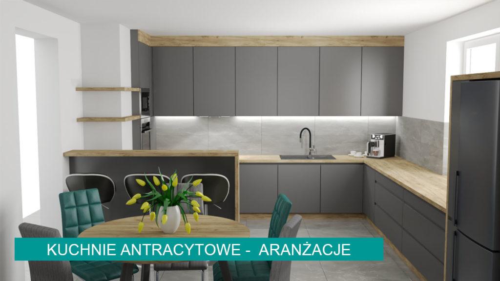 Kuchnie antracytowe | koncept3d projekty kuchni