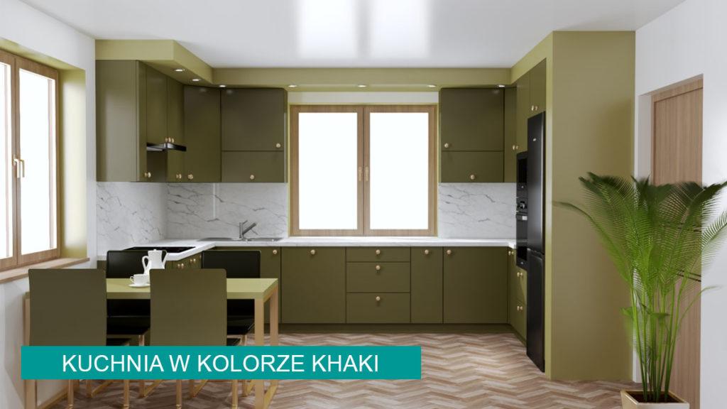 Kuchnia khaki | koncept3d projekty kuchni