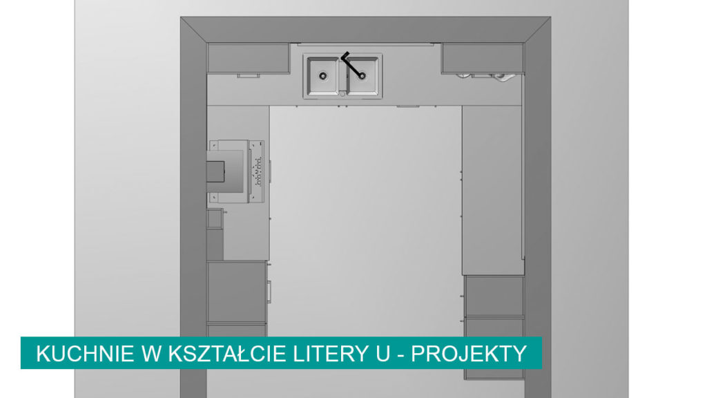 Kuchnia w kształcie litery U   koncept3d projekty kuchni
