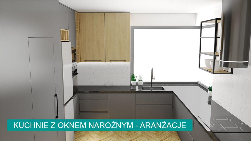 Kuchnia z oknem narożnym   koncept3d projekty kuchni