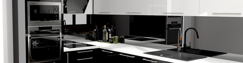 Czarna kuchnia | projekt wykonany w koncept3d
