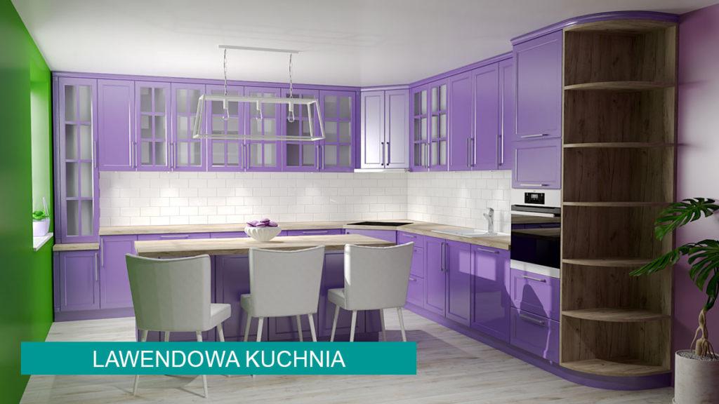 Kuchnia lawendowa | koncept3d projekty kuchni