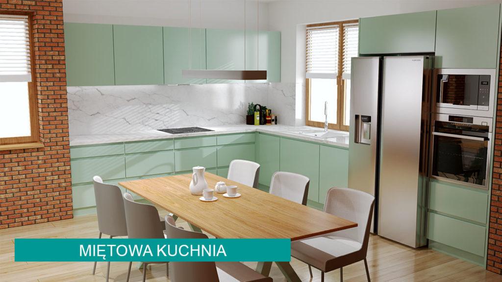 Miętowa kuchnia | koncept3d projekty kuchni