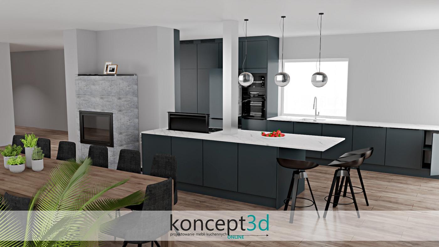 Projekty kuchni nowoczesnych wykonane w koncept3d