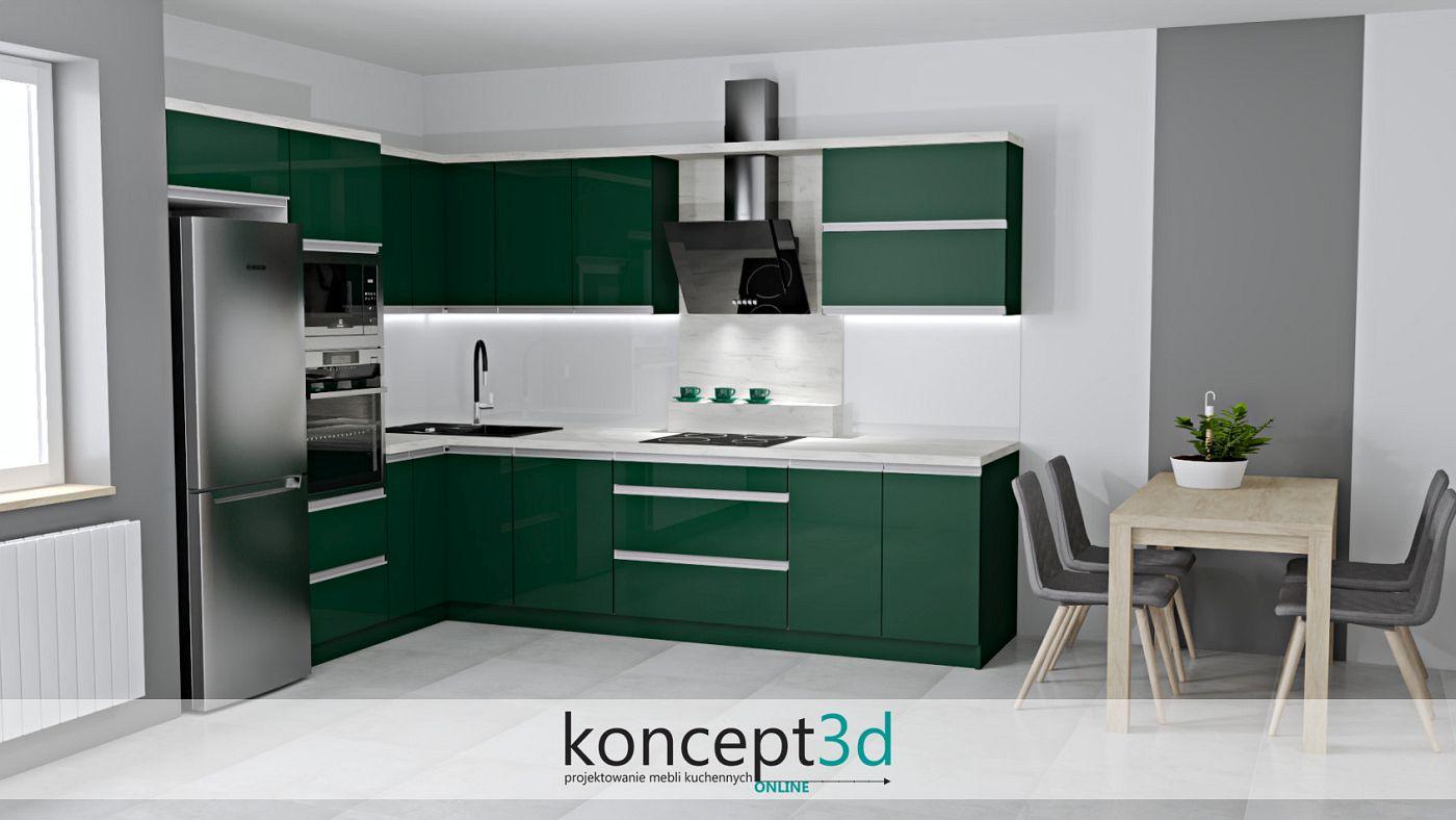 Jednym z odcieni zieleni jest ciekawa i lubiana butelkowa zieleń | wizualizacje koncept3d Kraków