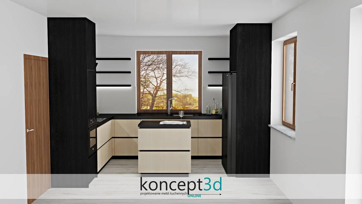 Dodatkowa wyspa z szufladami w kuchni | koncept3d projekty kuchni