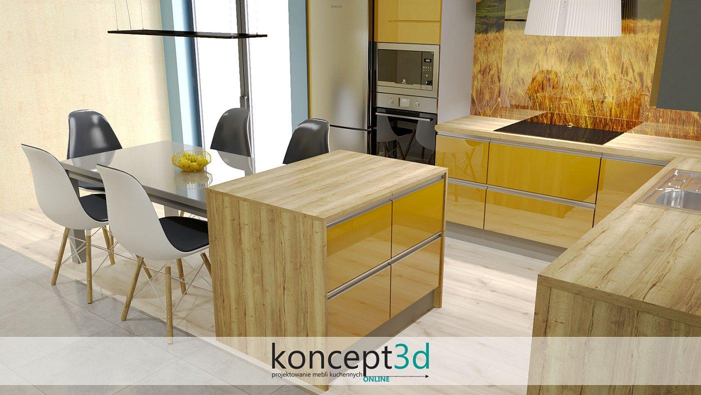Kolor żółty mebli to nieoczywisty pomysł na meble kuchenne | Kraków koncept3d