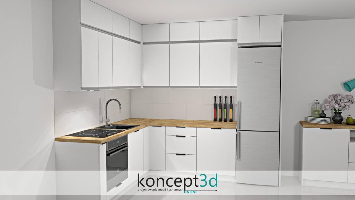 Białe płytki na ścianę do kuchni nad blat