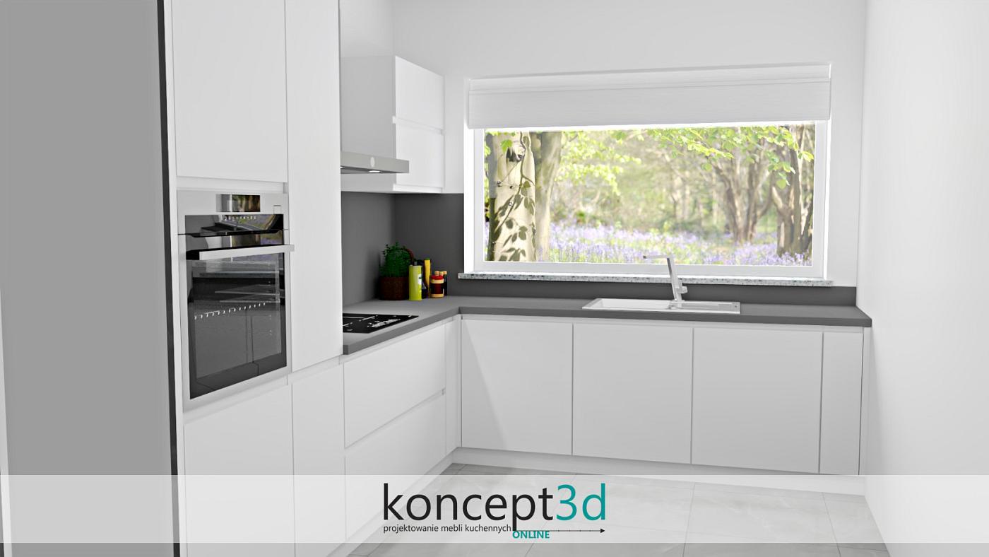 Duże okno to ogromny atut zabudowy kuchennej   koncept3d projekty kuchni