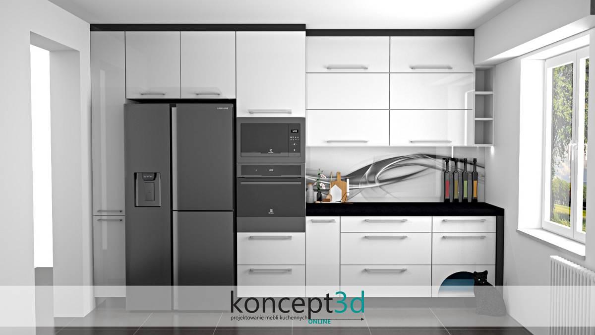 Bardzo modna abstrakcja nad blatem na ścianie - wizualizacje mebli kuchennych koncept3d