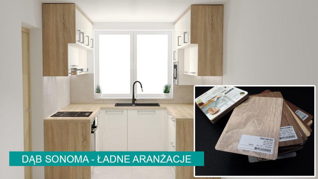 Dąb Sonoma aranżacje | koncept3d projekty kuchni