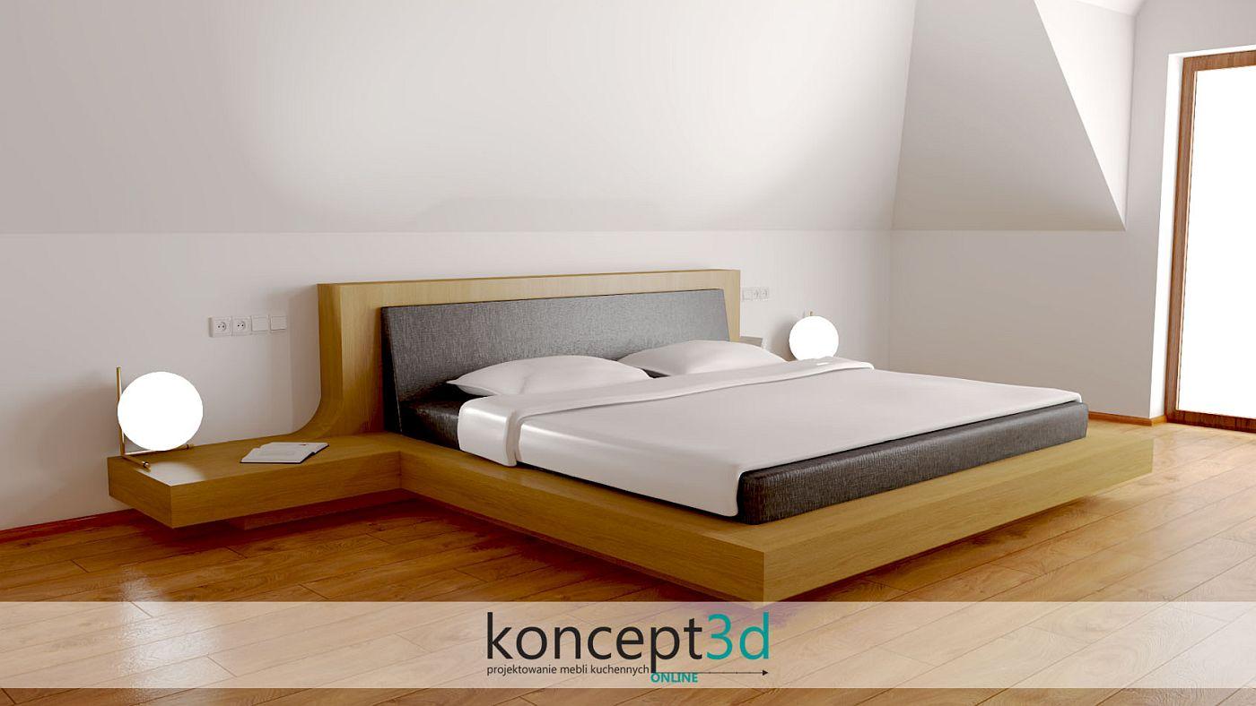 Łóżko do sypialni z litego dębu | koncept3d