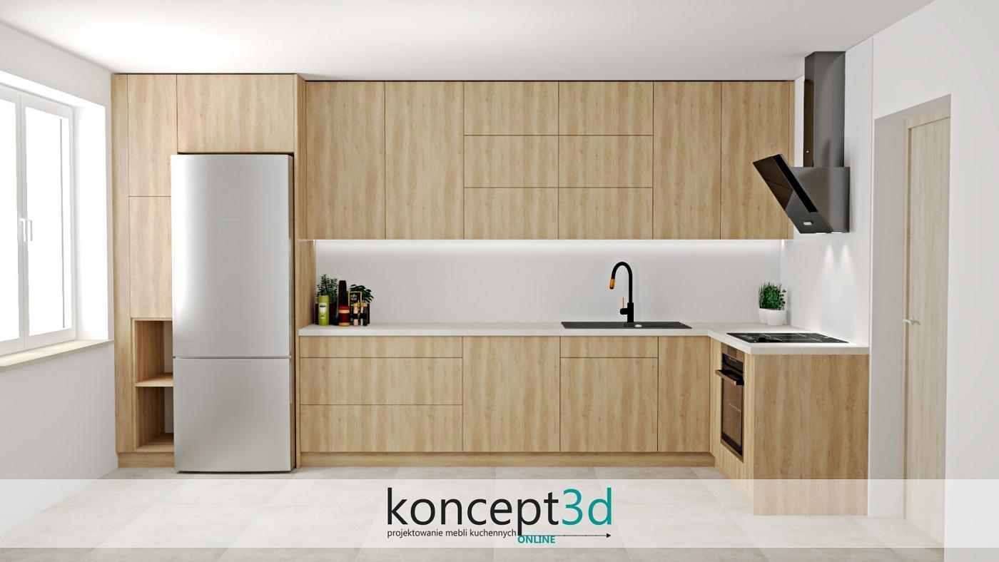 Dla jednych zbyt monotonna, a dla drugich idelana kuchnia w L   koncept3d projekty kuchni