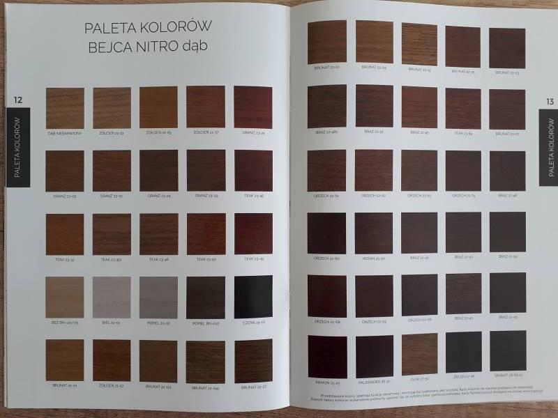 Paleta kolorów bejca nitro