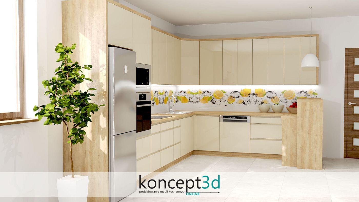 Grafika z cytrynami w kuchni i kostkami lodu to ciekawe rozwiązanie