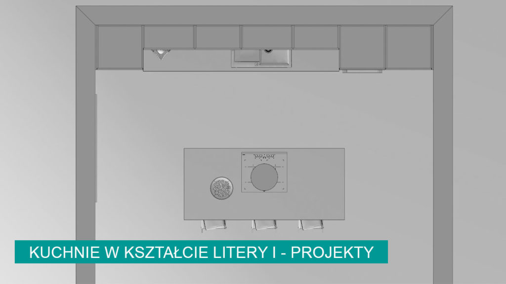 Kuchnia w kształcie litery I aranżacje | koncept3d projekty kuchni