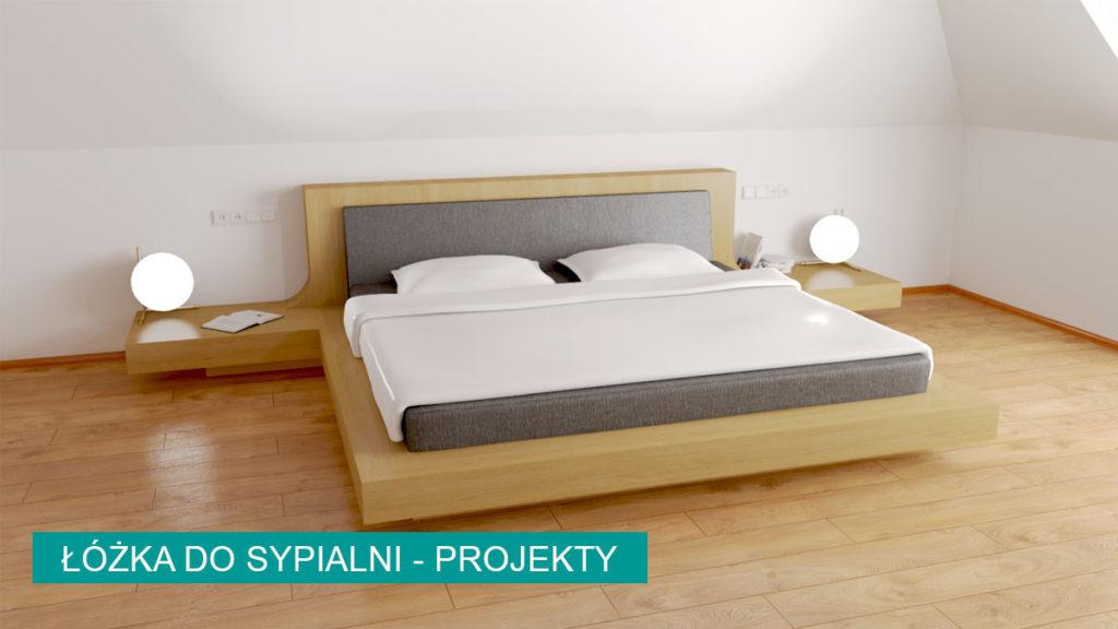 Łóżko do sypialni - projekty na wymiar | koncept3d