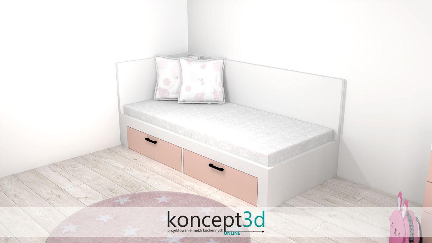Eleganckie łóżko w pokoju dziecka