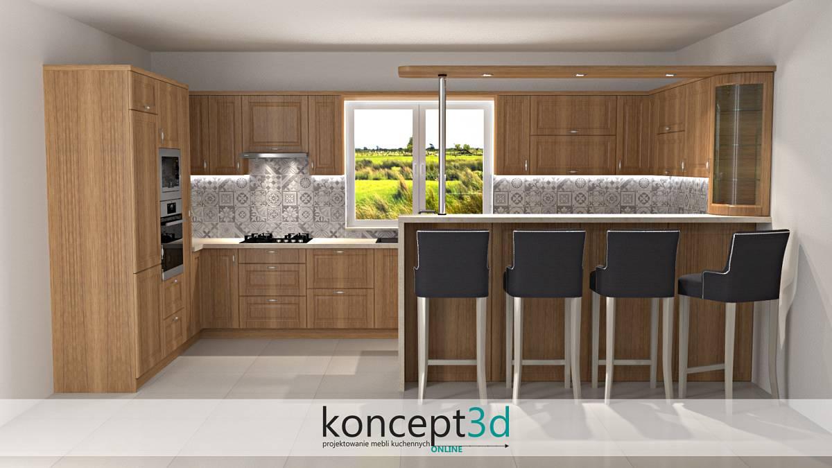 Płytki w kuchni nad blatem kuchennym w formie kwadratowych kafelków