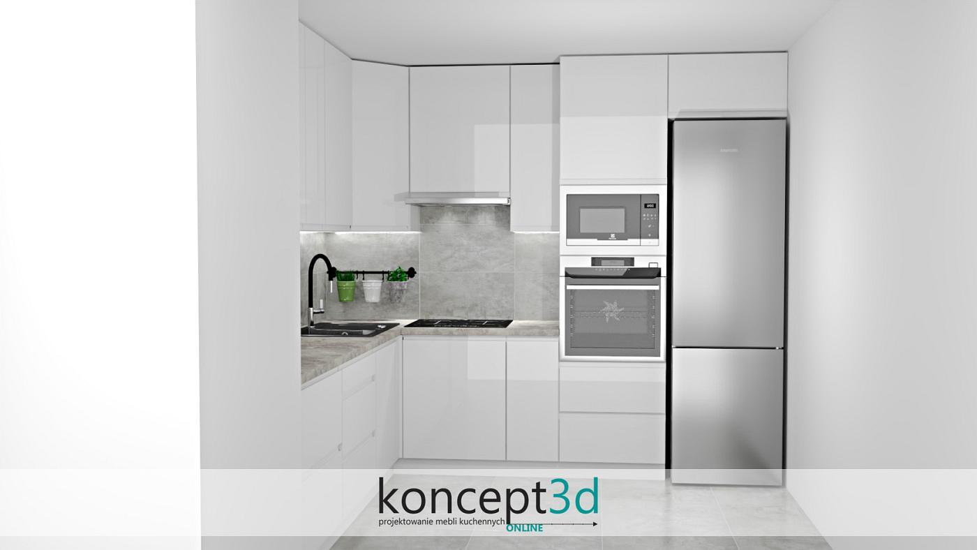 Szare płytki na ścianie nadadzą meblom kuchennym nowoczesności i prestiżu   koncept3d meble na wymiar