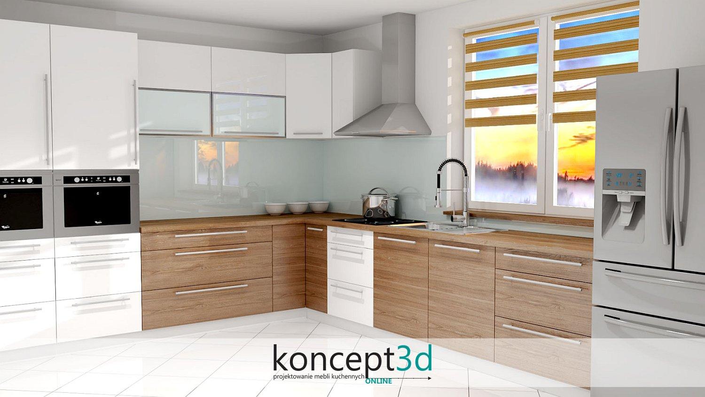 Połączenie płyty drewnianej z białym lakierem | koncept3d