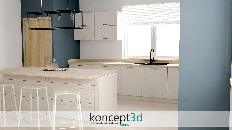 Styl klasyczny w kuchni to żłobienia we frontach   koncept3d projekty kuchni