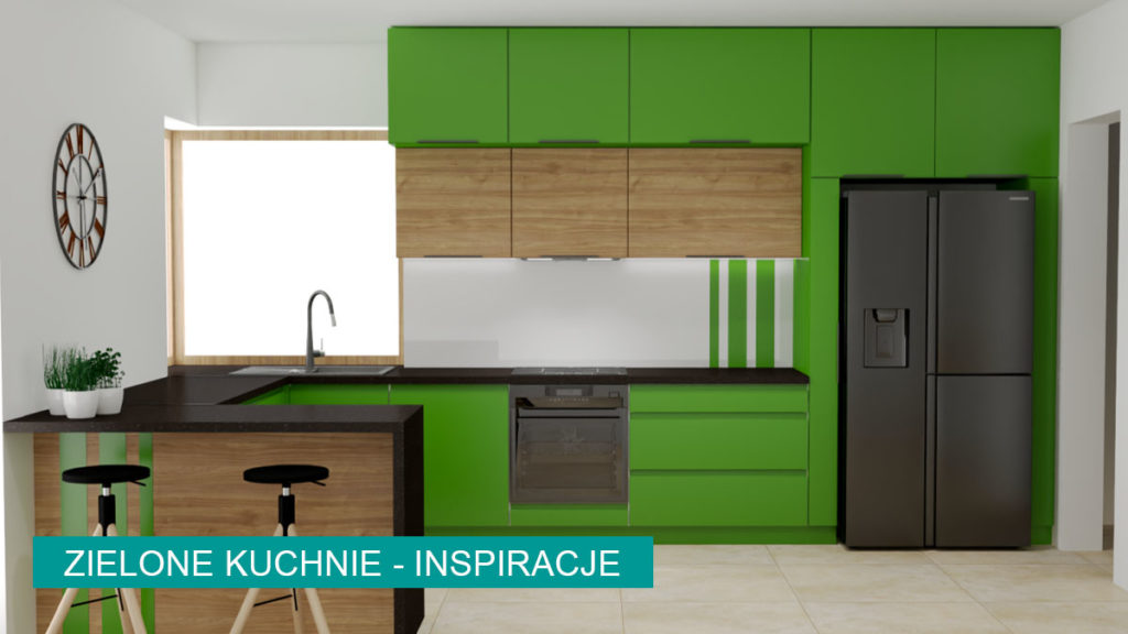 Zielone kuchnie aranżacje | koncept3d projekty kuchni