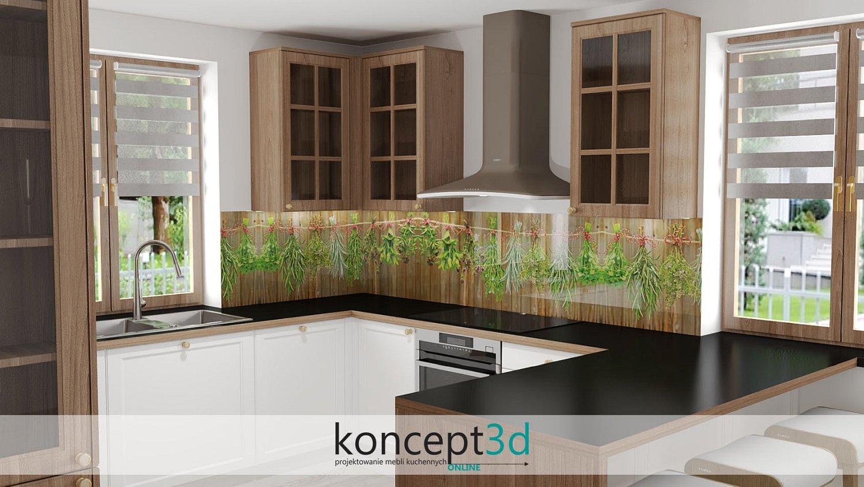 Zioła szkło laminowane | grafika na szkle w kuchni Alfa Szkło | koncept3d online Kraków