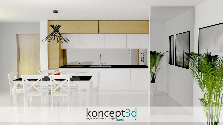Lustro w kuchni nad blatem to ciekawy zamiennik dla płytek | projekty kuchni koncept3d