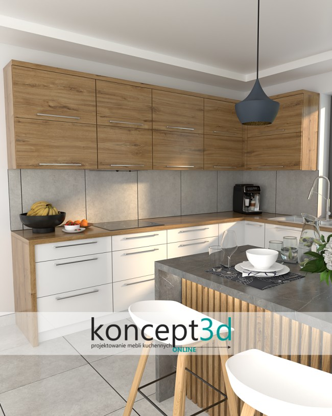 Projekty mebli kuchennych | Warszawa koncept3d